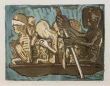 Rainer Henze(Leipzig 1952- deutscher Grafiker u. Metallbildhauer, Std. a.d. KHS Burg Giebichenstein,