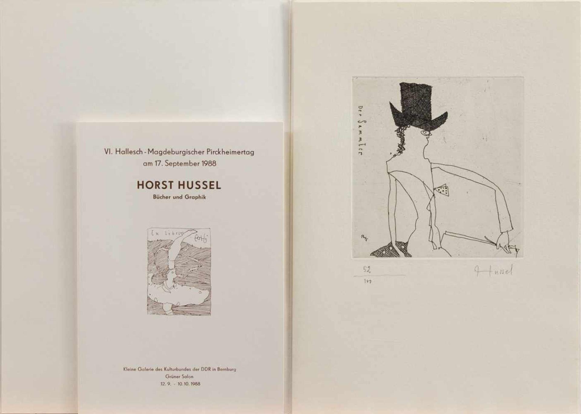 Horst Hussel(Greifswald 1934 - 2017 Berlin, deutscher Zeichner, Grafiker, Illustrator u.