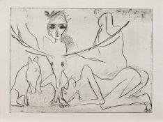 Franziska Lobeck(Rittersgrün/ Erzgebirge 1949 -, deutsche Malerin u. Bildhauerin, Std. d.