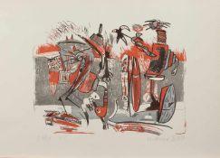 Wolfgang Henne(Leipzig 1949 -, deutscher Maler, Grafiker, Autor u. Buchgestalter, Std. a.d. HS f.