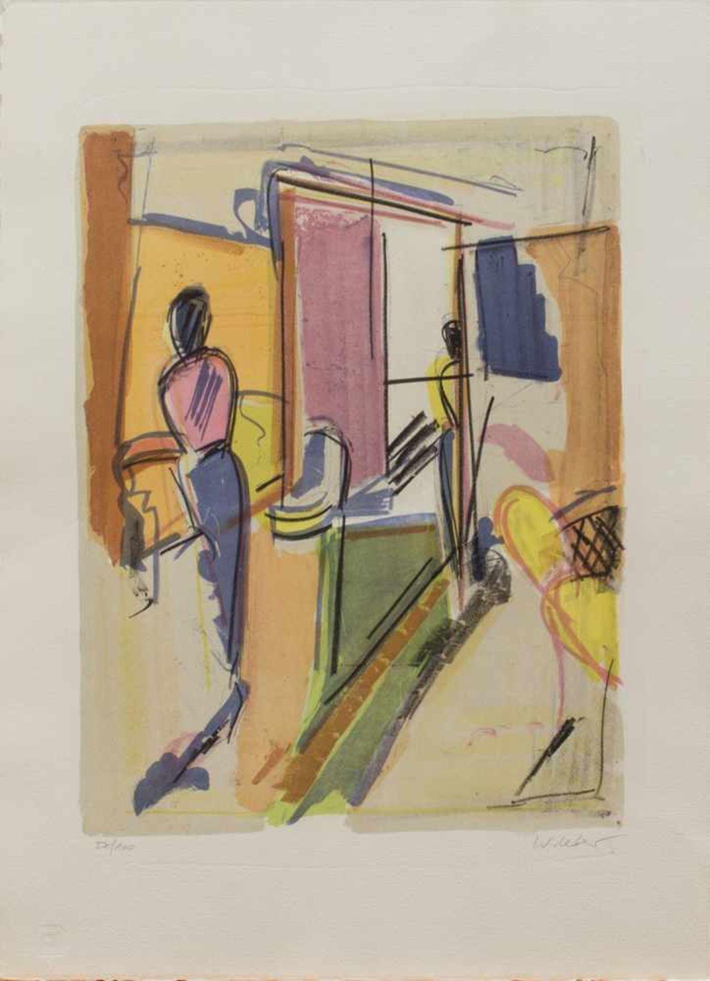 Wolfgang Leber(Berlin 1936 -, Maler u. Grafiker, Std. a.d. KHS Berlin-Weißensee, lebt u. arbeitet in