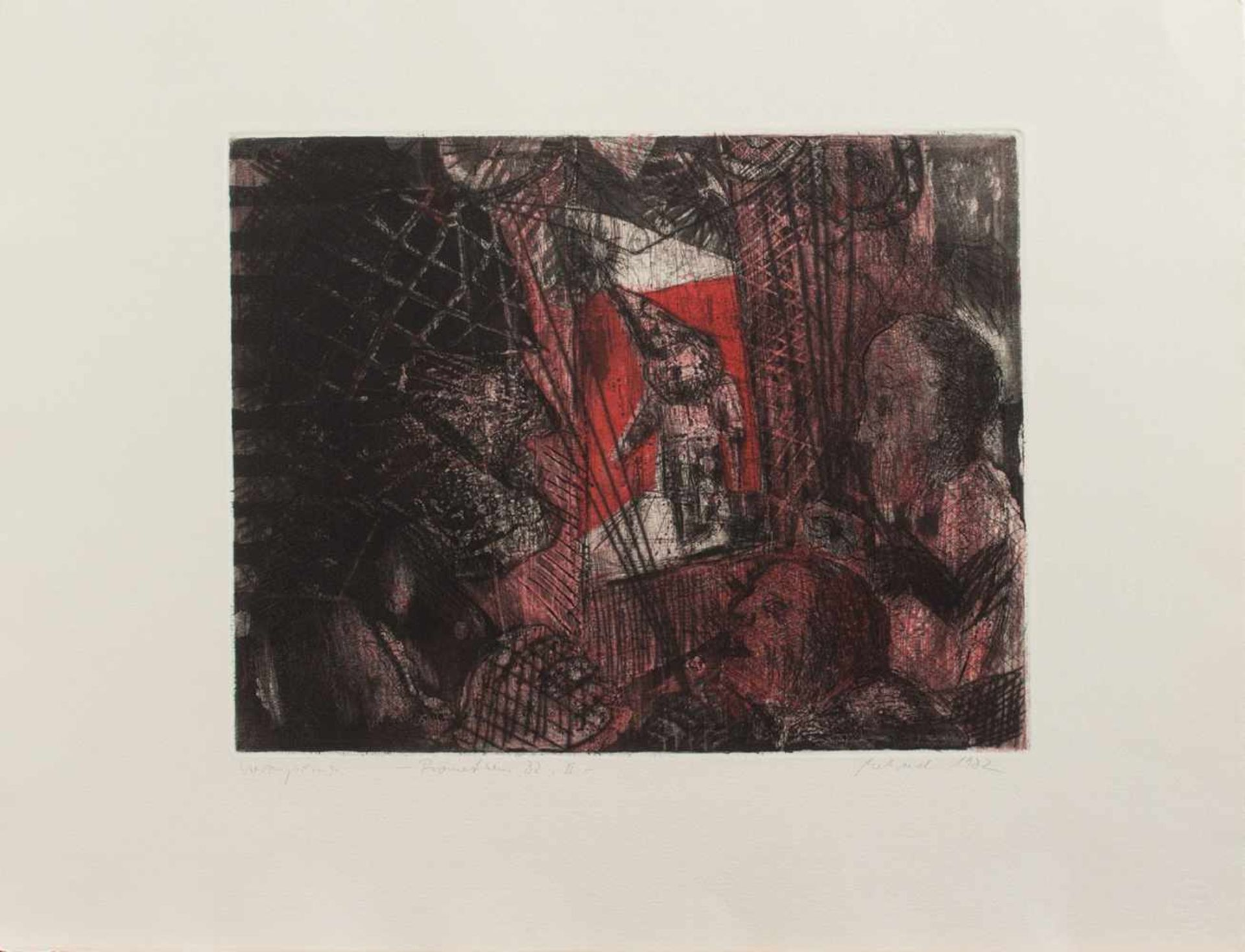 Falko Behrendt(Torgelow 1951-, Maler und Grafiker, Std. a.d. HS für Bildende Künste Dresden, lebt u.