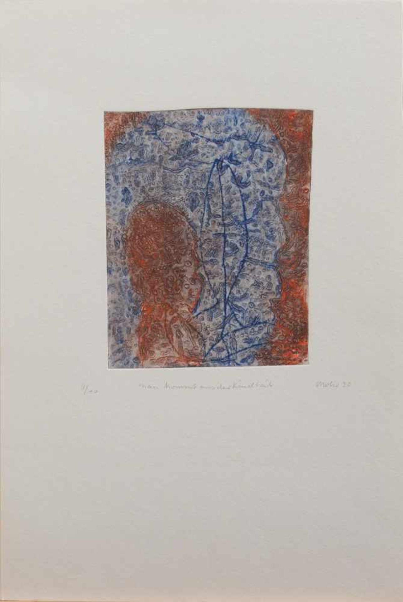 Harry Mohr(Rostock 1951 - 2014 Potsdam, deutscher Maler u. Grafiker, lebte u. arbeitete in Potsdam)