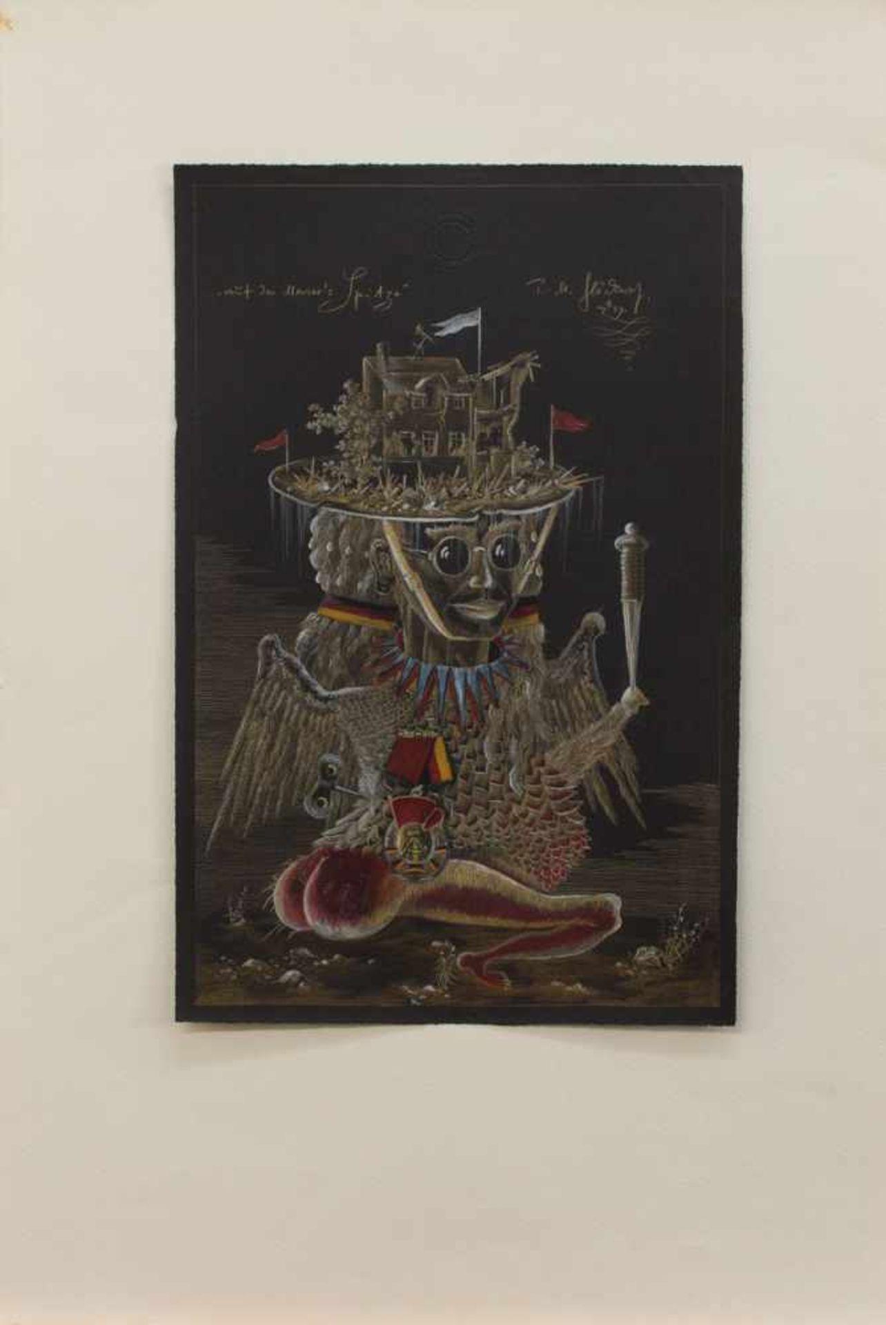 Peter Michael Glöckner(Hohenedlau 1950 - 2010, deutscher Maler u. Grafiker, Ausbld. in Halle/ Burg