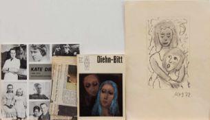 Kate Diehn-Bitt(Berlin 1900 - 1978 Rostock, Std. a.d Akademie Simson-Castelli Dresden, seit 1931