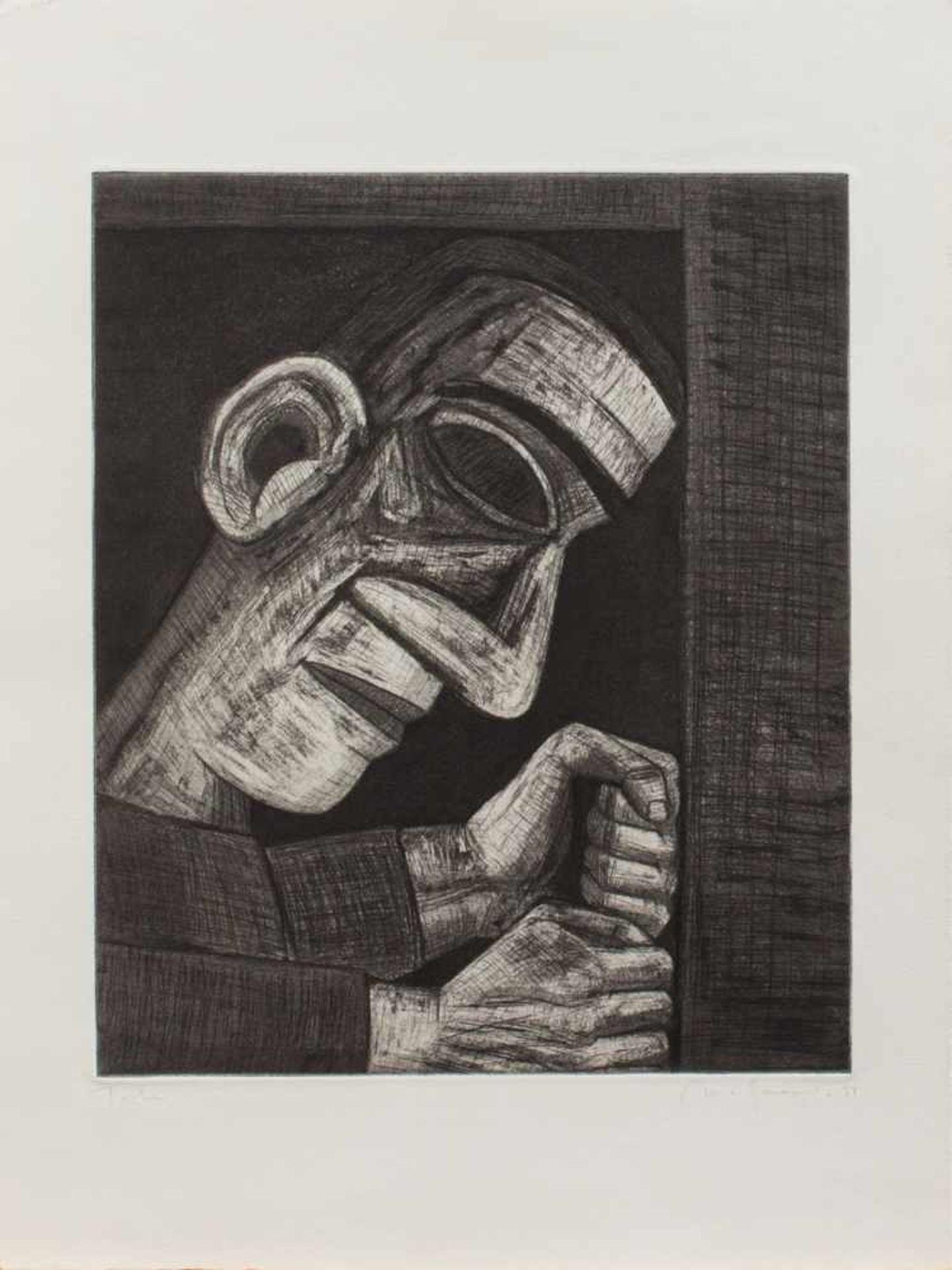 Nuria Quevedo(Barcelona 1938 -, Malerin u. Grafikerin spanischer Abstammung, Std. a.d. HS f.
