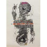 Feliks Büttner(Merseburg 1940 -, deutscher Maler u. Grafiker, Ausbildg. zum Dekorateur u.