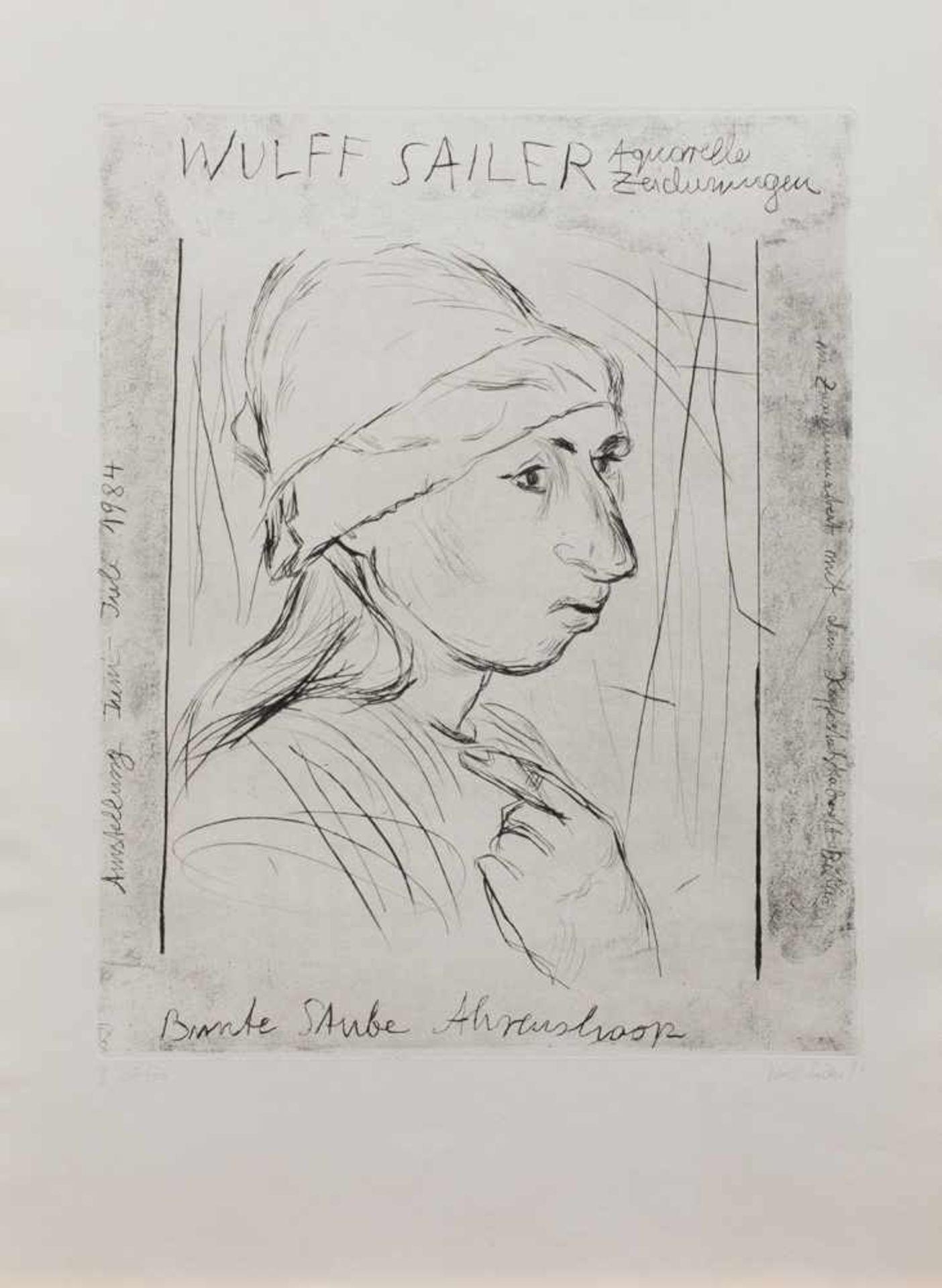 Wulff Sailer(Jena 1936 -, deutscher Maler u. Grafiker, Std. a.d. Uni Greifswald b. Wegehaupt, a.d.