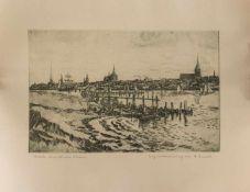 Arthur Eulert(Rostock 1890 - 1946 Wismar, deutscher Architekt, Maler u. Radierer, Std. a.d.