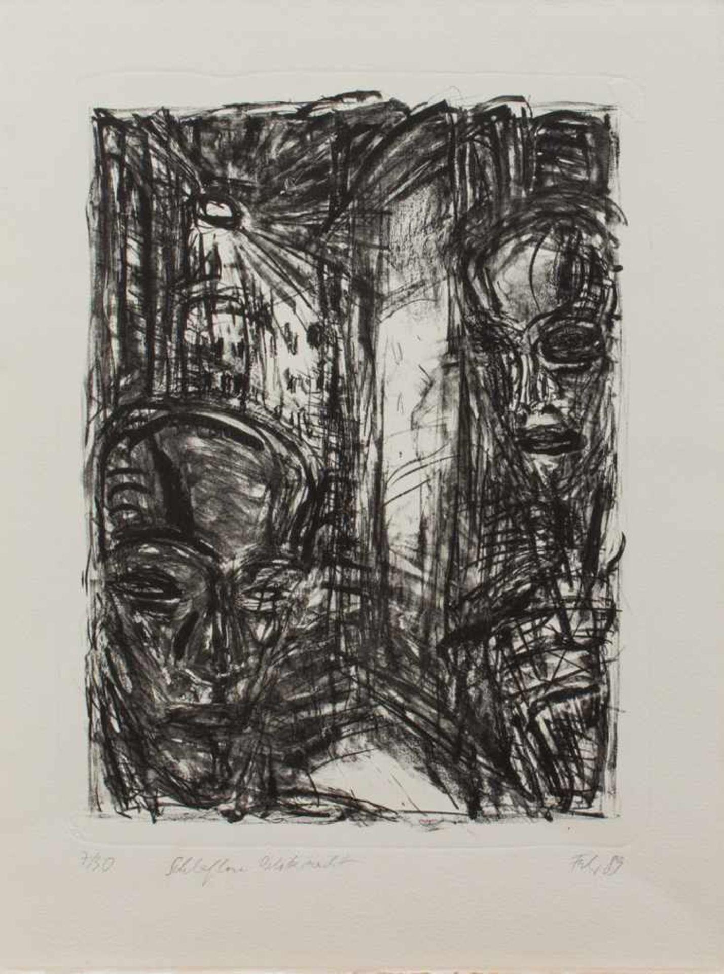 Ellen Fuhr(Berlin 1958 - 2017 ebenda, deutsche Malerin u. Grafikerin, Std. a.d. HS f. Bildende