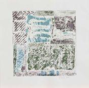 Regina Buch(Mecklenburger Künstlerin, Autodidaktin)Ohne TitelOriginal Farblithografie, 22 x 21 cm,