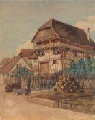 Tony Binder(Wien 1868 - 1944 Nörtlingen, österreichischer Orient- u. Landschaftsmaler)Gehöft in