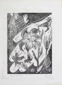 Monogrammist CB(Maler u. Grafiker des 20. Jh.)Sorget nichtOriginal Holzschnitt, 45 x 34,5 cm,