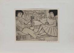 Ruth Buchholz(Hamburg 1911 - 2002 ebenda, deutsche Malerin u. Grafikerin, Std. a.d. Hamburger