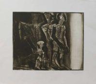 Gerhard Bachmann(Reichenbach/ Vogtland 1946-, deutscher Maler u. Grafiker, Buchdruckerlehre, Studium