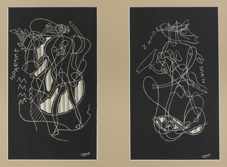 Lot 24 - GEORGES BRAQUE (Argenteuil 1882 - Parigi 1963) Sujets mythologiques, 1951