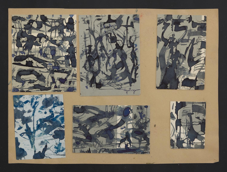 Lot 27 - UGO POZZO (Torino 1900 - 1981) Composizioni astratte, 1960 ca.