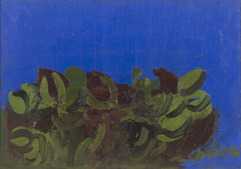 Lot 19 - ENNIO MORLOTTI (Lecco 1910 - Milano 1992) Fichi d'india Olio su tela, cm. 35 x 50 Firma in basso a