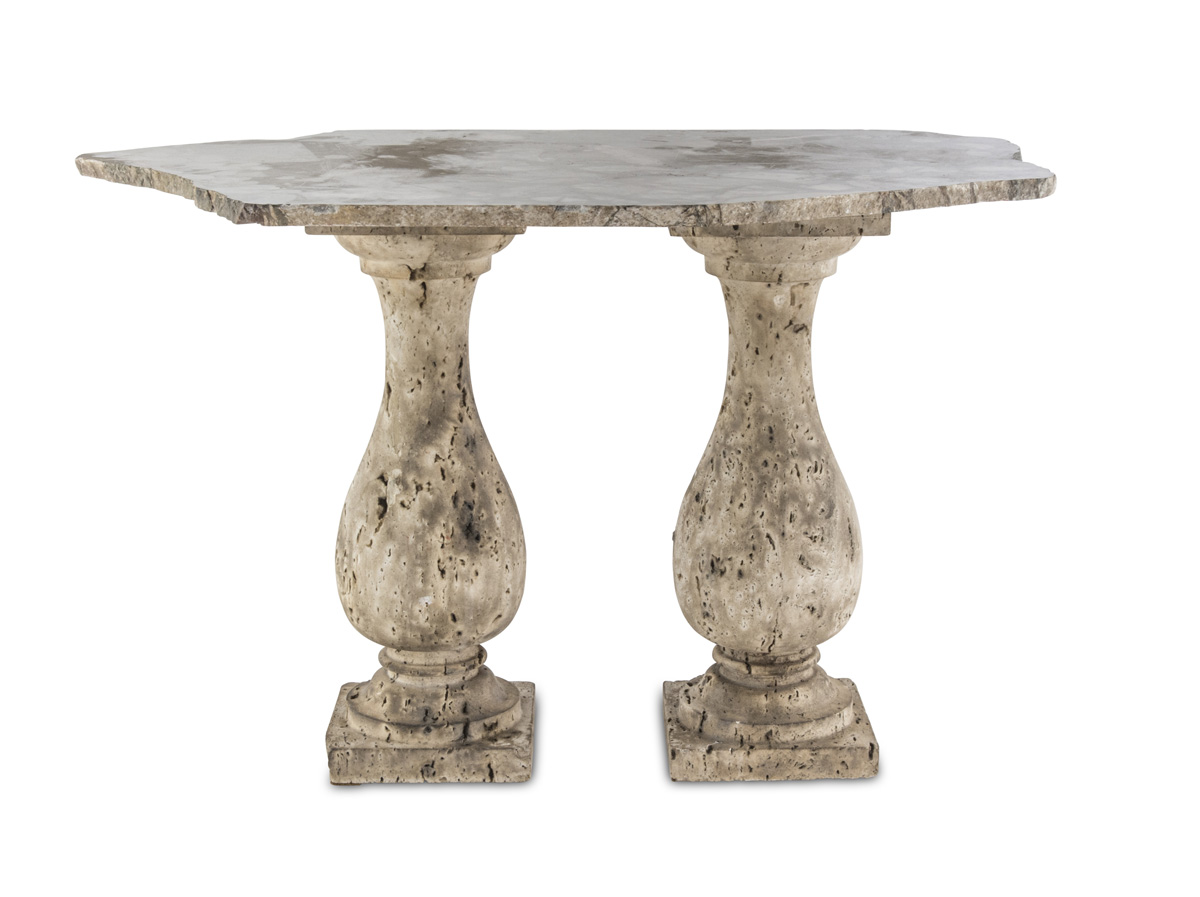 Lot 52 - SMALL MARBLE TABLE ANTIQUE ELEMENTS
