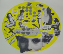 Michelle Thompson, 'Life is Beautiful' unframed, signed, limited edition print No 33/100,