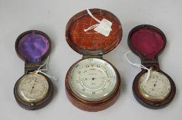 An Asprey brass cased table barometer, circa 1900,