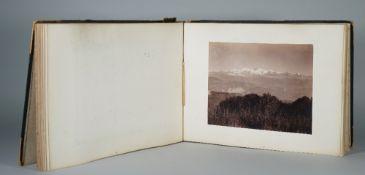 PHOTGRAPH ALBUM: a leather and calf bound album, India, Egypt, Asia, a few France, ca.