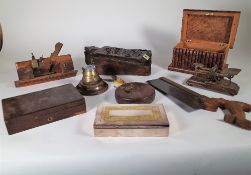 Collectables, including; postage scales, medical saws, drawing instruments and sundry, (qty).