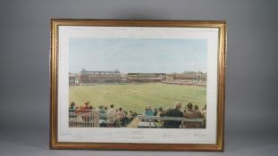 CRICKET: a limited edition print of the England v Australia 1980 Centenary Test Match at Lords,