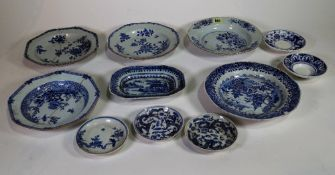 Chinese blue and white export porcelain, 18th century and later,