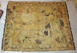 A tapestry with landscape, 262cm x 216cm.