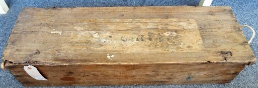 A 'Braund' lawn skittles set, c. 1920, ash and beech in a lidded rectangular box. 'L.