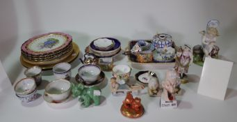 Continental, English and Asian ceramics, to include; Chinese export teabowls,