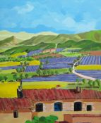 Eric Kalmar (contemporary), La Plaine de Dauphin a Voly; French landscape, a pair, oil on canvas,