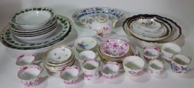 A group of Meissen porcelain, mostly 20th century,