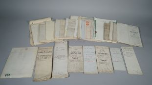 LEGAL DOCUMENTS: a collection of approx.