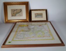 A group of five maps, including Bath & Environs, Surrey, Monmouth x 2, and South Coast,
