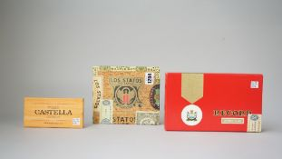 Los statos de Luxe Cuban cigars, 25 Cedros Lujo cigars, cased and Wills Castella cigars, (3).