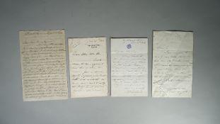 DU CHAILLU, Paul Belloni (1831 - 1903) Autograph letter signed to Doctor Henry Bence - Jones,