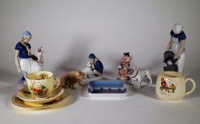 Ceramics, including; Royal Copenhagen figures and sundry, (qty).
