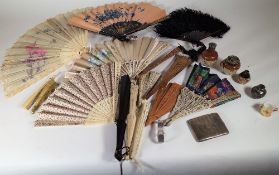 Collectables, including; mostly 20th century bone and ivory mounted fans,