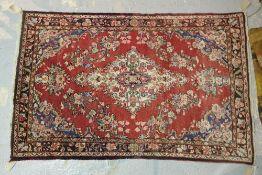 A pink Sarough rug, Persian.