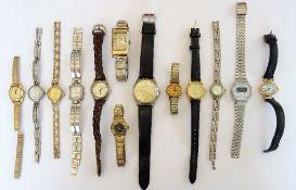 A Verity 9ct gold rectangular cased gentleman's wristwatch,
