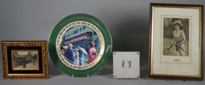 WIMBLEDON TENNIS / RACKET SPORTS: a collection of twenty loose and framed prints,