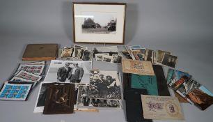 MISCELLANEOUS EPHEMERA: a collection of photographs, 60 loose, b/w.