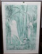Arthur Boyd (1920-1999), Woodland scenes, two colour lithographs, signed and numbered in pencil,