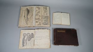 NOTEBOOKS / PHOTOGRAPHS: a collection including a manuscript journal, ca. 1927, 51pp. used . . .