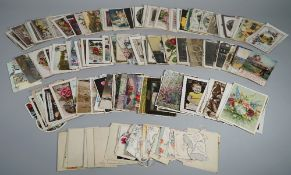 POSTCARDS: Sentimental and Greetings, a collection of approx. 200.