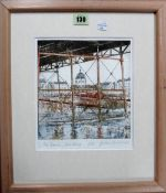 Peter Carreras (1921- ), The Dome, Worthing, colour etching and aquatint, signed,