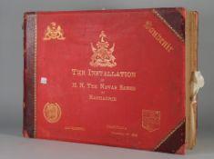 PHOTOGRAPH ALBUM: India, a souvenir album, 'The Installation of H.H.