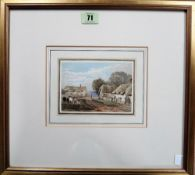 George Shepheard (1770-1842), Great Milton, Oxon, watercolour, 9cm x 13cm.